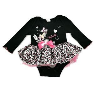 Minnie Mouse Frilly Leopard Tutu Top 3-6m